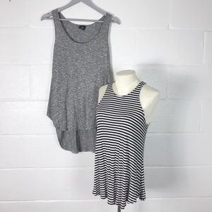 Two Mossimo tank tops loose hi lo sz Med